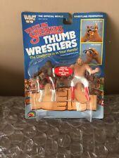 Titan Sports LJN WWF WWE Thumb Wrestlers Junk Yard Dog vs. Big John Studd MOC