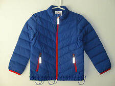 HANNA ANDERSSON Warm Up In Down Packable Jacket Coat Brilliant Blue 130 8 NWT