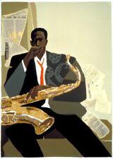 "African American Black Art Print ""JAZZ (SM)"" by Joseph Holston"