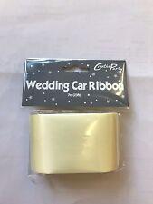 """Matrimonio Avorio Auto Nastro 7 metri di lunghezza e 2"""" ampia ideale per decorare l'auto"""