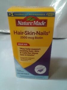 Nature Made Hair.Skin.Nails 2500 mcg Biotin 120 softgels *READ* {VS-N}