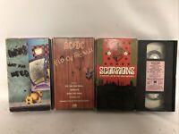 Rock Vhs tape lot 4 INXS AC/DC Scorpions Motley Crue