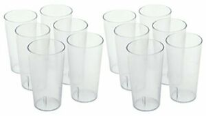 Winco - Clear Plastic Tumbler/Stackable Restaurant Beverage cup,12 Pk,16 oz.