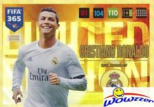 2017 Panini Adrenalyn XL FIFA 365 EXCLUSIVE Christiano Ronaldo Limited Edition