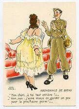 M. Barré & Dayez . JEAN PARIS . Charme militaire. Erotique. ABONDANCE DE BIENS