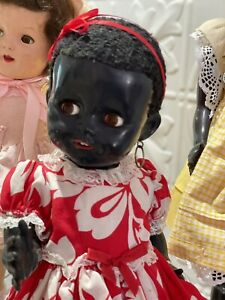 VGC Black Pedigree 40 cm 16 in Walking Doll Original Outfit Inc Cinderella Shoes