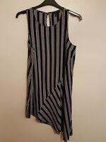 ATMOSPHERE - Ladies Womens Girls Navy Blue & White Striped Dress Size 16