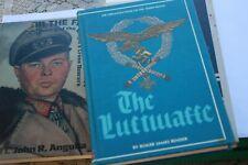 Roger James Bender 3 signed Books, Luftwaffe WWII, John R. Angolia Signed,