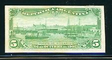 Argentina Rosario Port Specialized: Scott #143 5c Yellow Green PLATE PROOF $$$