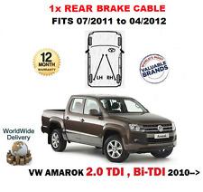 PARA VW VOLKSWAGEN AMAROK 2.0 TDI +BI 07/11-04/2012 1X TRASERO CABLE DEL FRENO