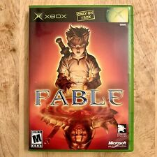 XBOX GAME ~ Fable (Microsoft Xbox, 2004) Black Label ~ Complete! CIB!