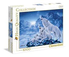 Puzzle 1000 Teile Wolfsfamilie Clementoni  39280 Wölfe