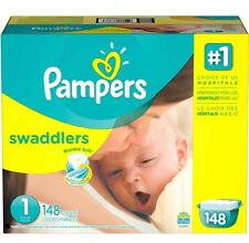 Pampers Swaddlers Diapers Giant Pack Size 1, 148 ct