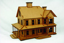 Old West Cowboy Building CATTLE BARON'S RANCH HOUSE  25mm, 28mm Terrain, D046