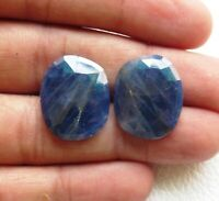 10988 Natural Blue Sapphire 6.40 cts Both Side Faceted Rose Cut Fancy Shape 11x12.5x4 mm Loose Gemstone