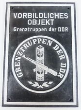 original altes Grenztruppen Schild der DDR, selten        (a205)