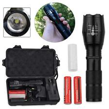 CREE T6 2000LM LED Zoomable Torch Flashlight 2x 18650 Battery +Charger +Case HOT