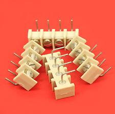 BORNIER A VIS 4 PLOTS IMPLANTATION CI PAS : 4x1/10ème po soit 4x2,54mm
