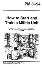PM 8-94 How to Start and Train a Militia Unit on pdf, DVD Electronic Library
