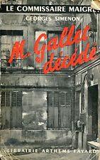 Georges Simenon = Le commissaire maigret =  M. GALLET DÉCÉDÉ