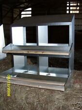 "(12x4Pk)  4-Hole 12""X12"" Metal Chicken Nesting Box NEW ( egg, chick, USA made)"