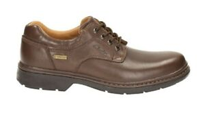 Clarks Rockie Lo Gtx Men's Brown Leather Derby Lace Up Waterproof Shoes