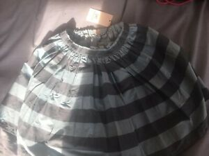 No Added Sugar skirt blue stripes 9-10 years, BN with tags
