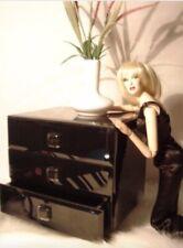 "Nib $89.00 Black Beveled Glass Dresser Luxury Diorama Decor for 15""-16"" Tonner +"