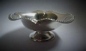 Edwardian Quadrilobed English Sterling Silver dish by William Hutton 1904