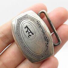 Vtg Higkok 925 Sterling Silver Letter A Men's Belt Buckle
