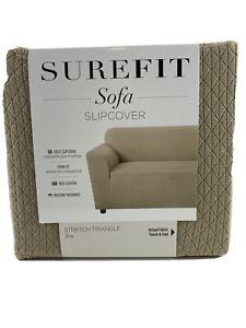 Surefit Tan Stretch Triangle Sofa Cover Furniture Protector Slipcover