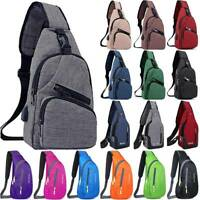 For Men Women Shoulder Sling Crossbody Bag Pack Sports Travel Casual Chest Bags