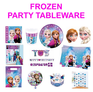 DISNEY'S FROZEN Birthday Party Decorations - Tableware - Balloons - Back drop
