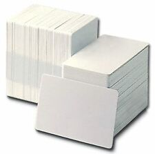 1000 BLANK WHITE PLASTIC ID CARDS - FREE DELIVERY