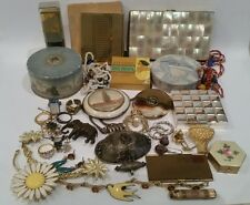 Large LOT of 35 Vintage Powder Compacts Sterling Jewelry COTY ESTEE NO RESERVE!