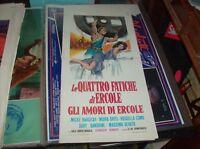 Die Vier Arbeiten Gli Liebes-Herz von Hercules Plakat Original 1962 M Hargitay