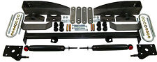 1955-57 CHEVY BELAIR, 210, 150 REAR LEAF SPRING RELOCATION POCKET KIT - DELUXE