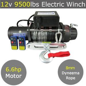 12V 12000lbs Electric Winch 9mm x 25m Dyneema Rope 4WD 4x4 13000lbs 13500lbs