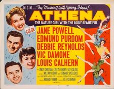 ATHENA - TITLE LOBBY CARD (1954) - DEBBIE REYNOLDS, JANE POWELL, VIC DAMON -