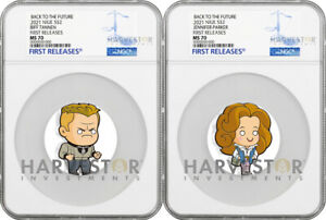 2021 CHIBI COIN - BACK TO THE FUTURE: BIFF & JENNIFER - NGC MS70 FIRST RELEASES