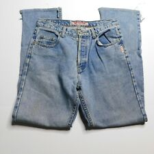 Silver Jeans Red Star Womens Denim Size 32 Vintage Button Fly Straight Leg Mom