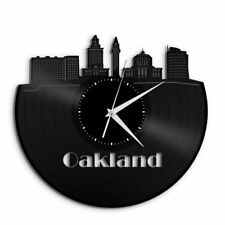 Oakland Vinyl Wall Art Clock Cityscape Travel Gift Home Decor Decorative Design