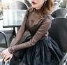 Women Transparent Blouse Clubwear Ladies Mesh Net T-Shirt Long Sleeve Tee Tops