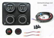 "12V Battery Voltmeter Monitor Measures Low Charge Alarm Solar Bank 60"" Wires"