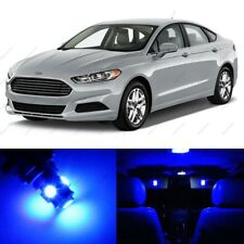 11 x Blue LED Interior Light Package For 2013 - 2018 Ford Fusion + Pry Tool