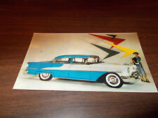 1955 Oldsmobile 98 4-Door Sedan Advertising Postcard