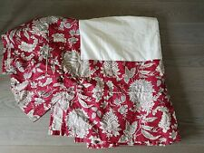 Pottery Barn Margaret Palampore Red Ivory Blue Floral Cali King Bed Skirt - Nwot