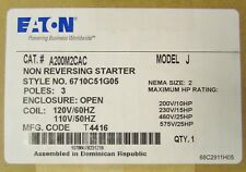 Eaton Cutler Hammer A200m2cac 110120v Size 2 A200 Starter