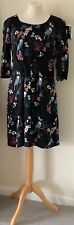 Lily and me dress 14 black mix bird print lined