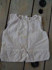 Chemisier habillé sans manches blanc à dentelle taille 5 ans
